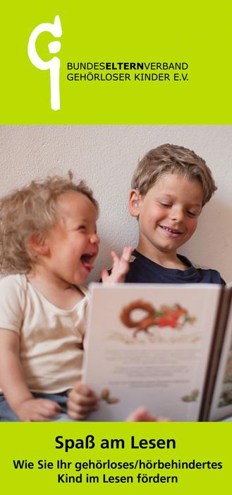 Flyer Leseförderung bei gehörlosen / hörbehinderten Kindern